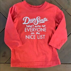 Christmas Long Sleeved Tee Shirt